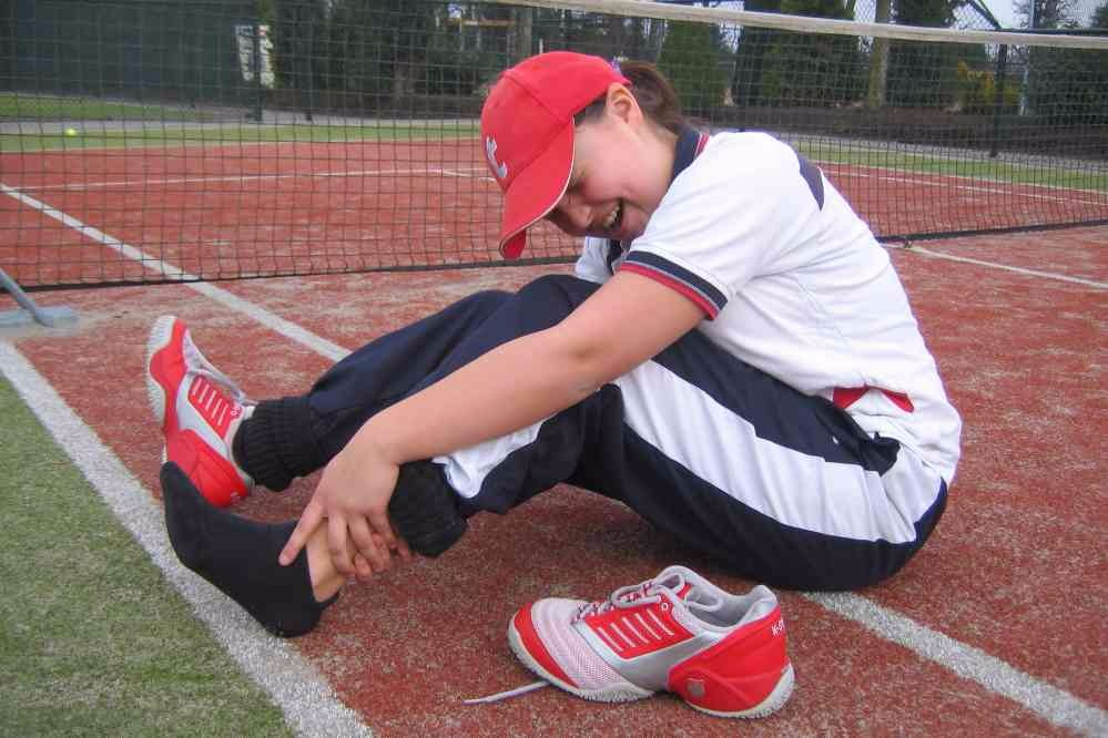 geblesseerde sporter